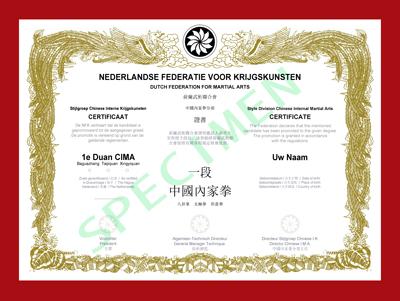 Certificaat CIMA