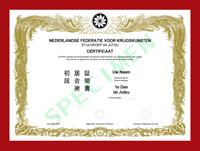 Certificaat Iaijutsu