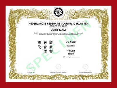 Certificaat Iaido