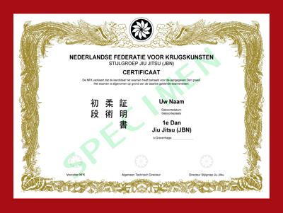 Certificaat Jiu Jitsu (JBN)
