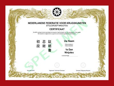Certificaat Ninjutsu