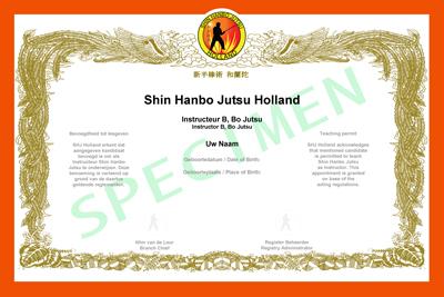 Certificaat Shin Hanbo Jutsu