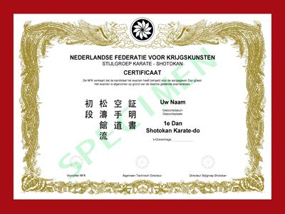 Certificaat Shotokan