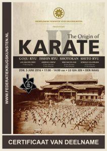 20160606 The Origins of Karate certificaat web
