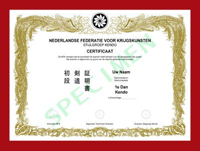 Certificaat Kendo